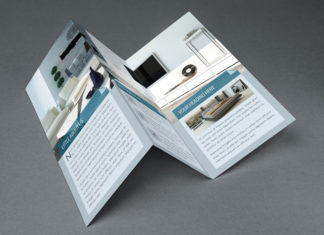 Interior Tri Fold Brochure Template 02