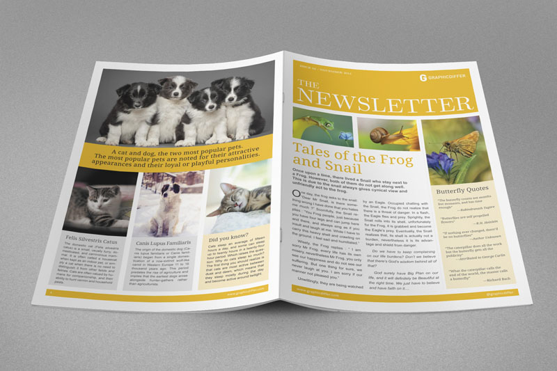 Indesign Newsletter. Free Indesign Templates The Graphic Mac ...