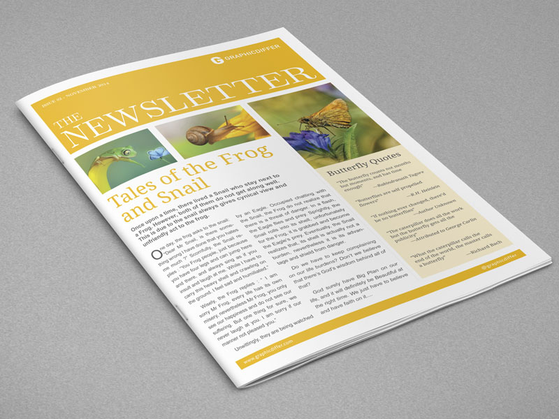 Indesign Newsletter Templates Graphicdiffer - Indesign newsletter templates