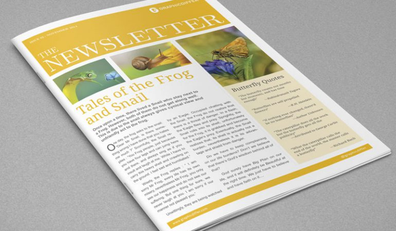 Indesign Newsletter Templates – Graphicdiffer