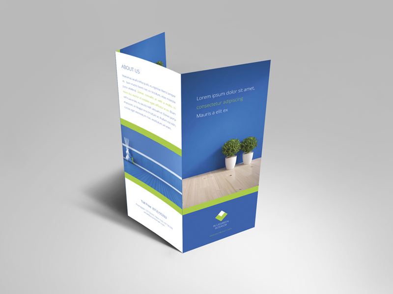 Interior Trifold Brochure Template Vol 2