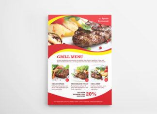 Grilled Flyer Menu Indesign Template