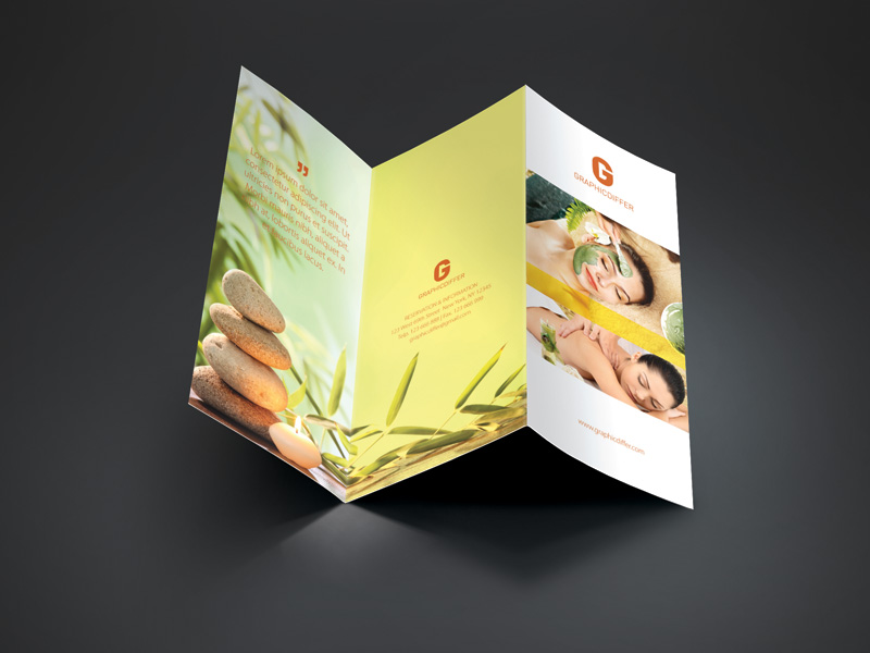 Spa Trifold Brochure Template – Graphicdiffer